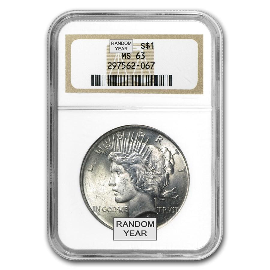 1922-1935 Peace Dollars MS-63 NGC