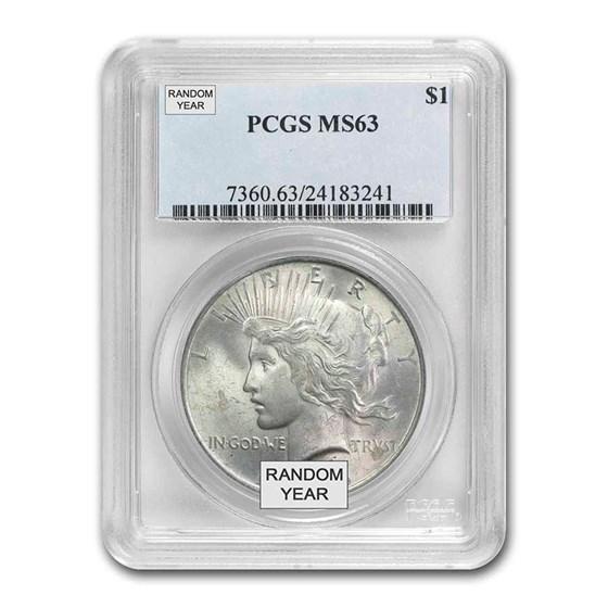 1922-1935 Peace Dollars MS-63 PCGS