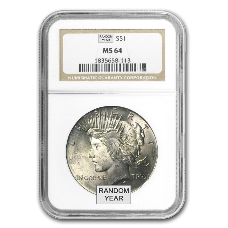 1922-1935 Peace Dollars MS-64 NGC