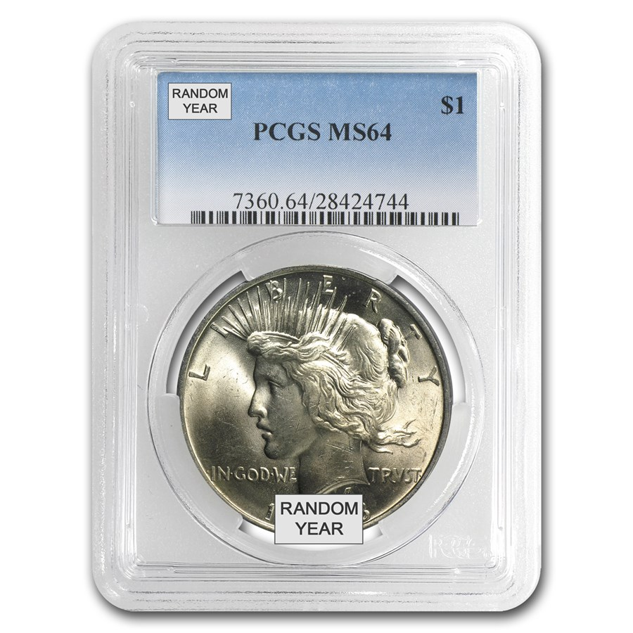1922-1935 Peace Dollars MS-64 PCGS