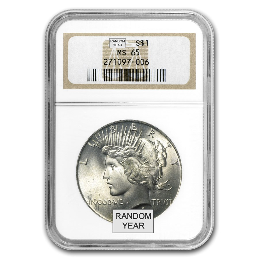 1922-1935 Peace Dollars MS-65 NGC