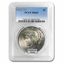 1922-1935 Peace Dollars MS-65 PCGS