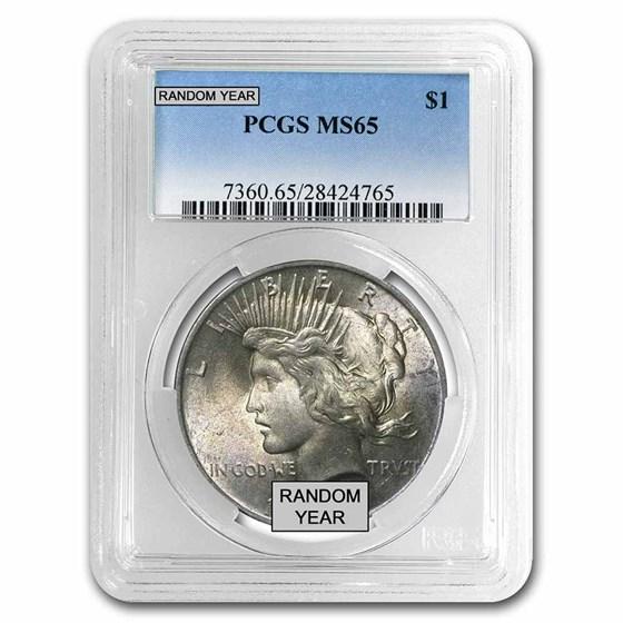 1922-1935 Peace Dollars MS-65 PCGS