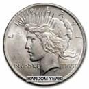 1922-1935 Peace Silver Dollar BU (Cleaned, Random Year)