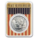 1922-1935 Peace Silver Dollar Eagle Flag Card BU (Random Year)