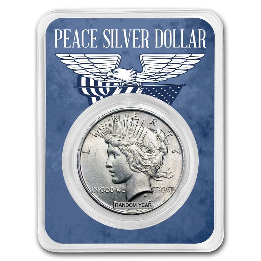 1922-1935 Peace Silver Dollar Eagle Wings Card BU (Random Year)