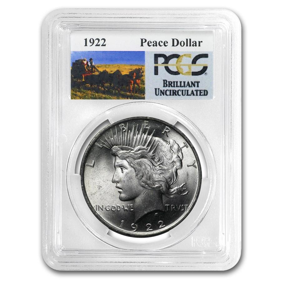 1922-1935 Stage Coach Peace Dollar BU PCGS
