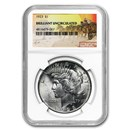 1922-1935 Stage Coach Peace Dollars BU NGC