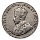 1922-1936 Canada 5 Cents George V Avg Circ (VG-VF)