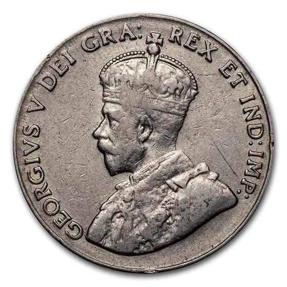1922-1936 Canada 5 Cents George V Avg Circ