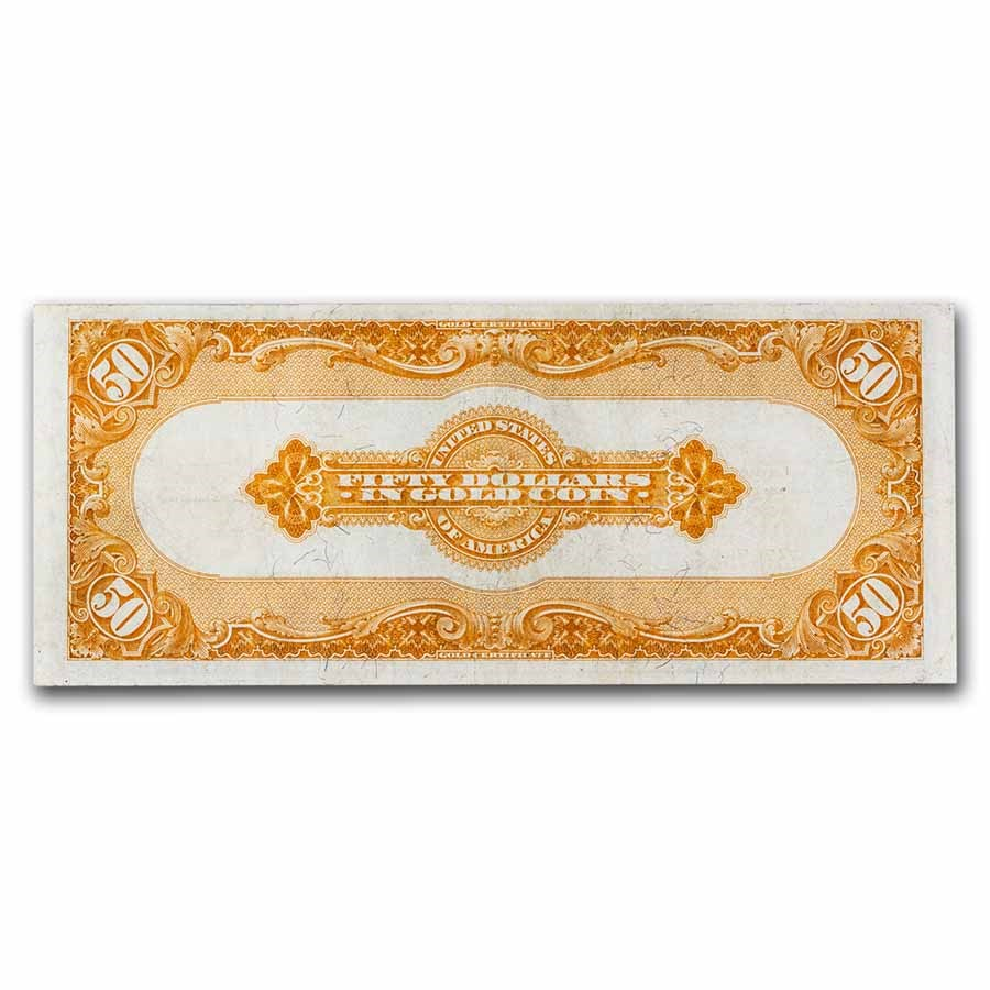 1922 $50 Gold Certificate Choice VF (Fr#1200A) Small Serial#