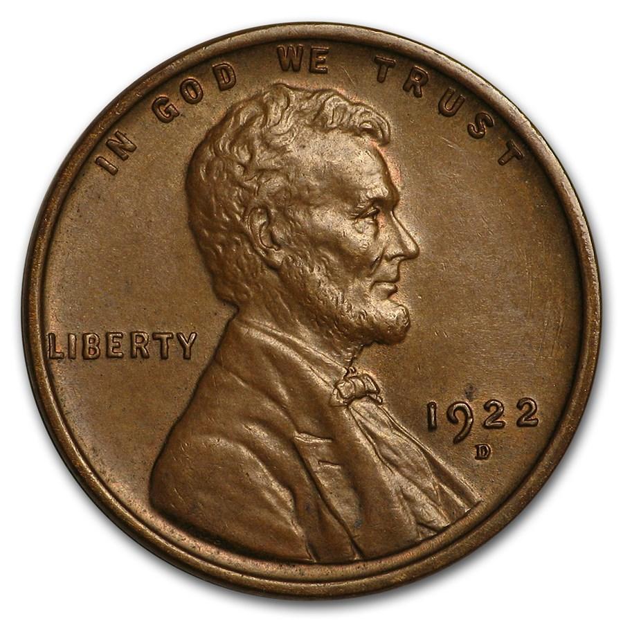 1922-D Lincoln Cent Ch AU