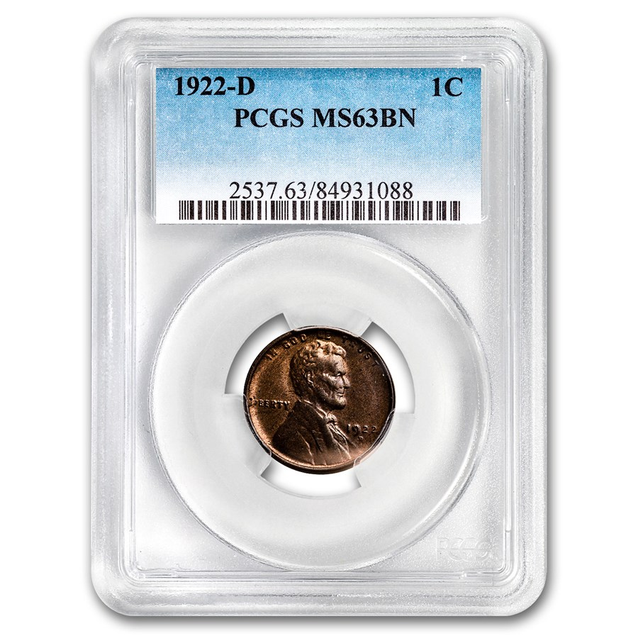 1922-D Lincoln Cent MS-63 PCGS (Brown)