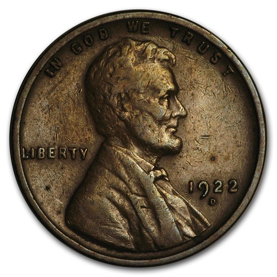 1922-D Lincoln Cent XF
