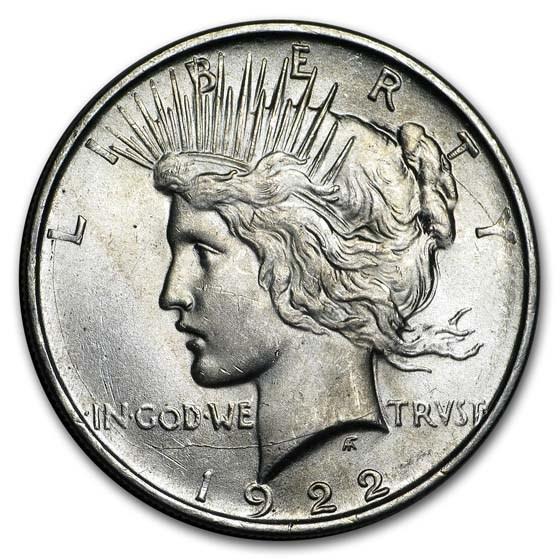 1922-D Peace Dollar AU-58
