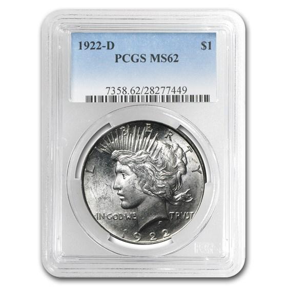 1922-D Peace Dollar MS-62 PCGS