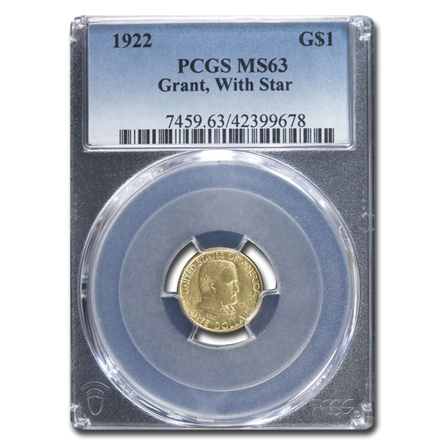 1922 Gold $1.00 Grant MS-63 PCGS (with Star)