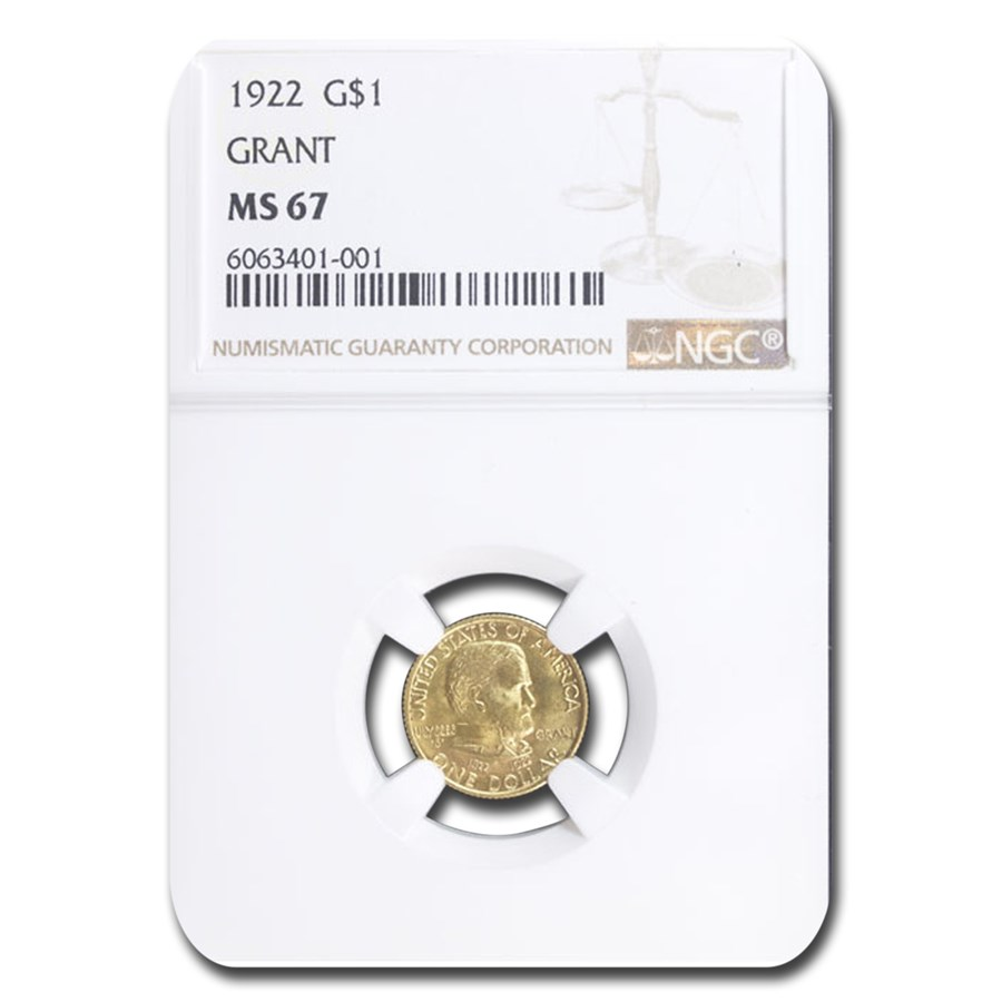 1922 Gold $1.00 Grant MS-67 NGC (No Star)