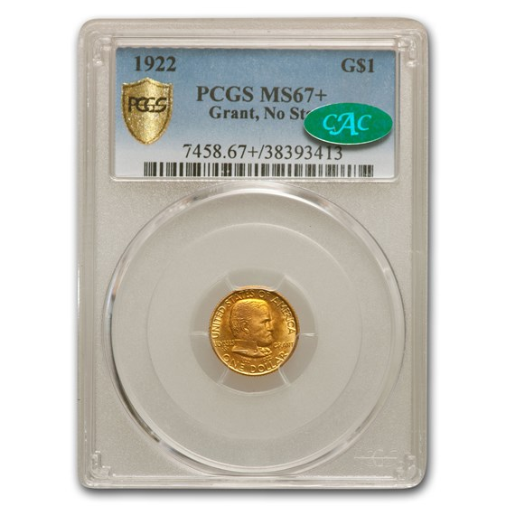 1922 Gold $1.00 Grant MS-67+ PCGS CAC (No Star)