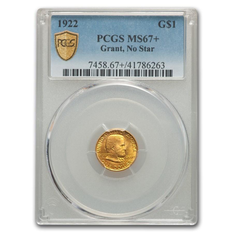 1922 Gold $1.00 Grant MS-67+ PCGS (No Star)