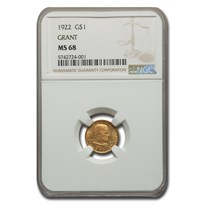1922 Gold $1.00 Grant MS-68 NGC