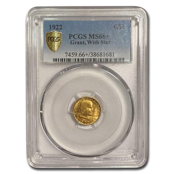 1922 Gold $1.00 Grant w/Star MS-66+ PCGS