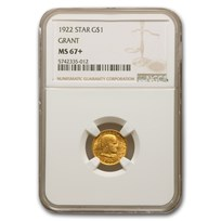 1922 Gold $1.00 Grant w/Star MS-67+ NGC