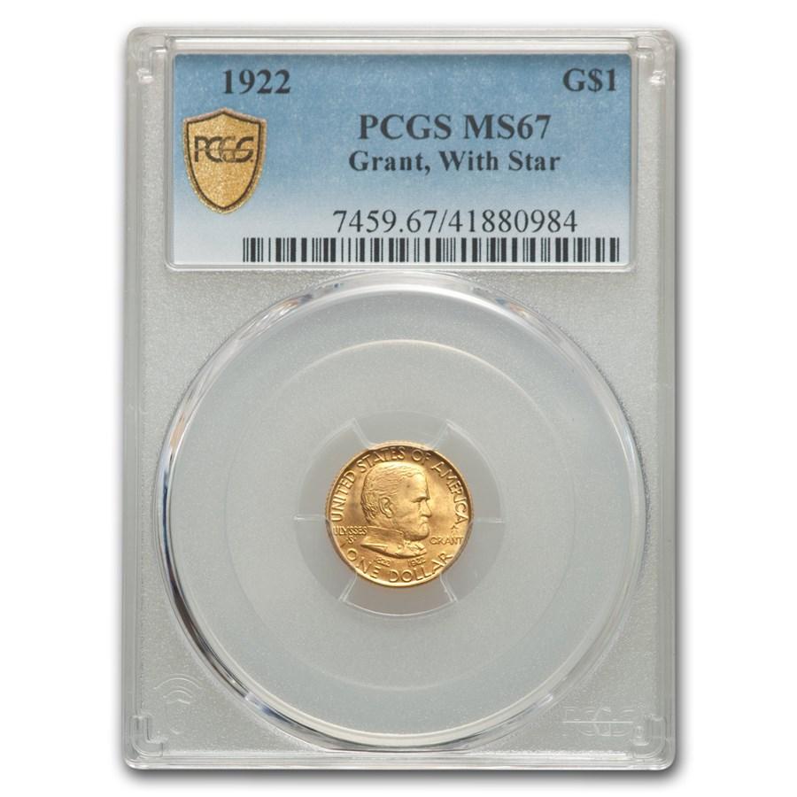 1922 Gold $1.00 Grant w/Star MS-67 PCGS