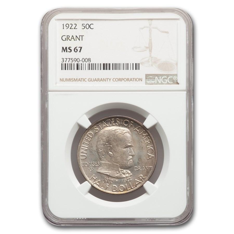 1922 Grant Memorial Commemorative Half Dollar MS-67 NGC