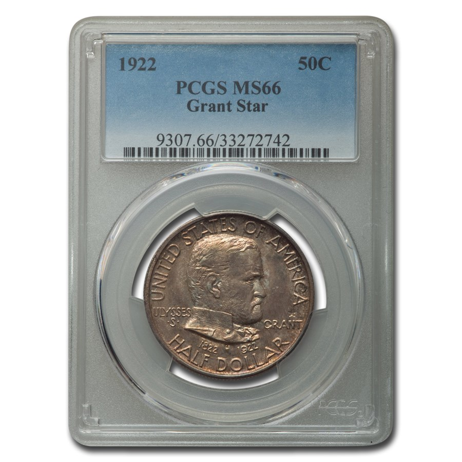 1922 Grant Memorial Half Dollar w/Star MS-66 PCGS
