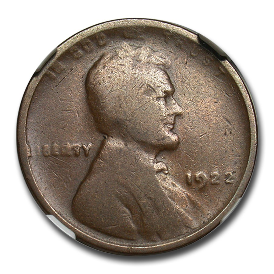 1922 No D Lincoln Cent Good-6 NGC (Strong Reverse)