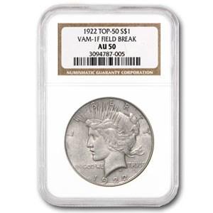 1922 Peace Dollar AU-50 NGC (VAM-1F)