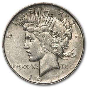 1922 Peace Dollar AU-50 (Struck Thru Grease)