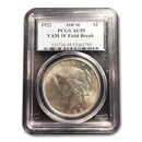 1922 Peace Dollar AU-55 PCGS (VAM 1F Field Break Top 50)