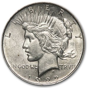 1922 Peace Dollar AU-58 (VAM-2C, Extra Hair EDS, Top-50)
