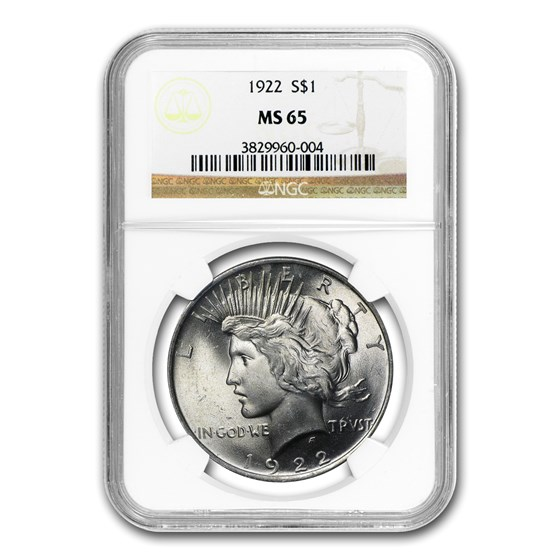 1922 Peace Dollar MS-65 NGC