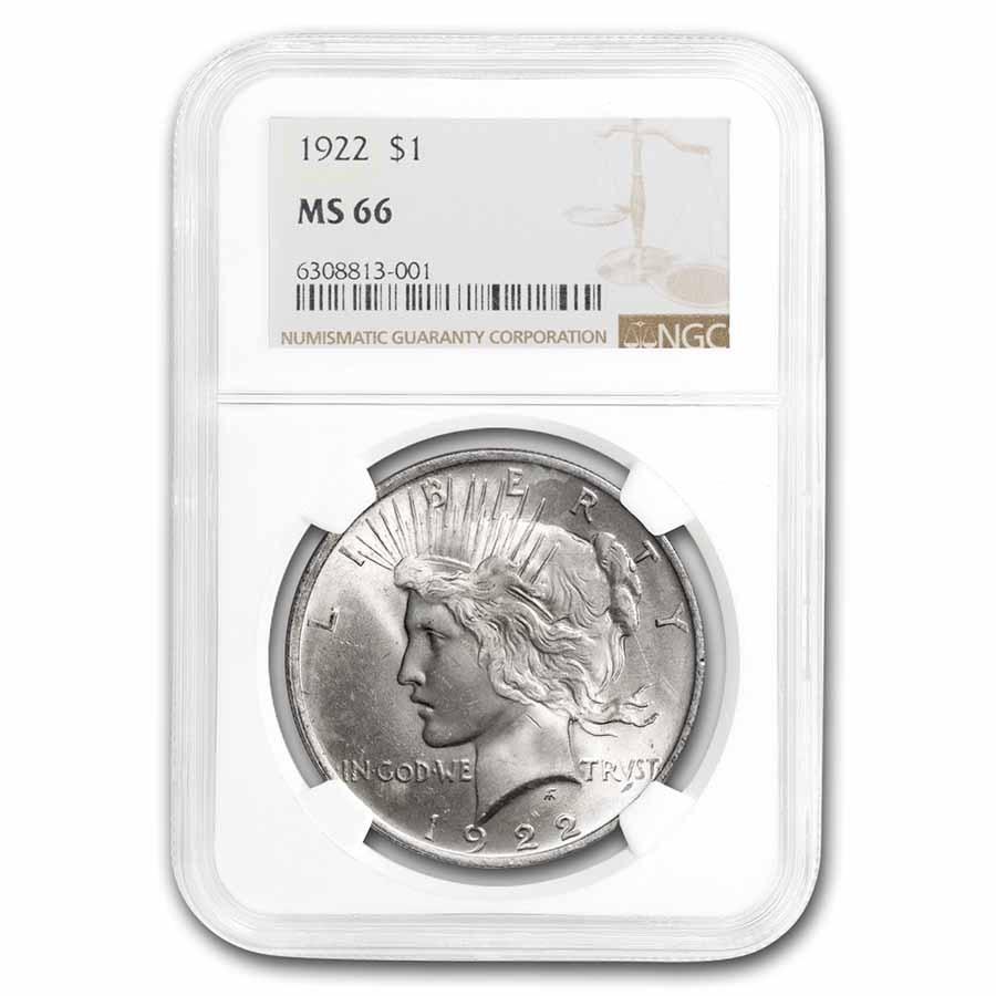 1922 Peace Dollar MS-66 NGC
