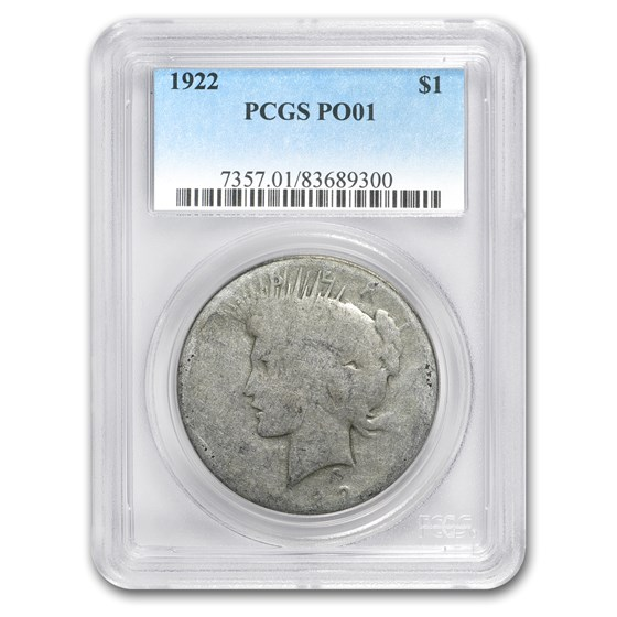 1922 Peace Dollar Poor-1 PCGS (Low Ball Registry)