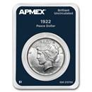 1922 Peace Silver Dollar APMEX Card BU