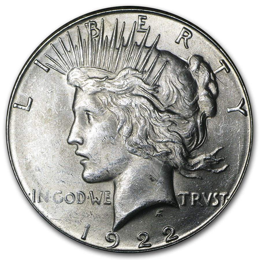 1922-S Peace Dollar BU