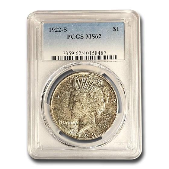 1922-S Peace Dollar MS-62 PCGS