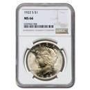 1922-S Peace Dollar MS-66 NGC