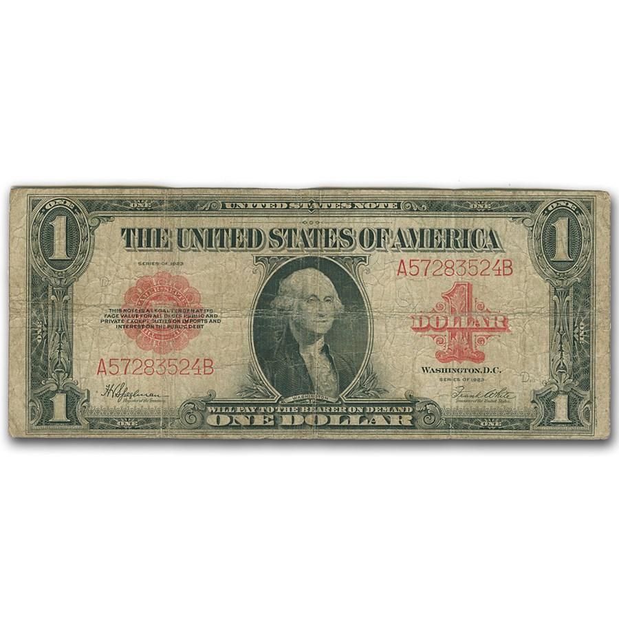 1923 $1.00 Legal Tender Red Seal VG (Fr#40)