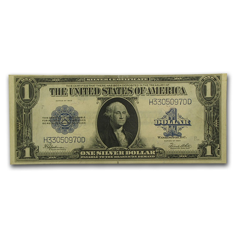 1923 $1.00 Silver Certificate AU (Fr#237)