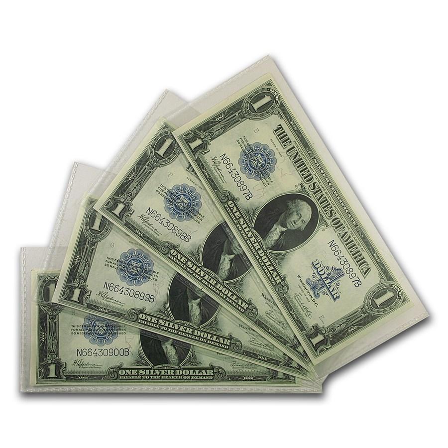 1923 $1.00 Silver Certificate CU (4 Consecutive Notes)