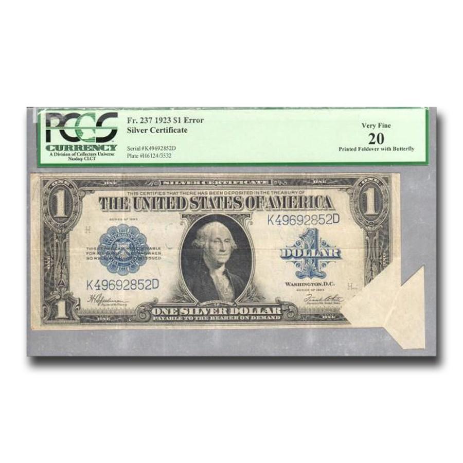 1923 $1.00 Silver Certificate VF-20 PCGS (Fr#237) Butterfly Fold