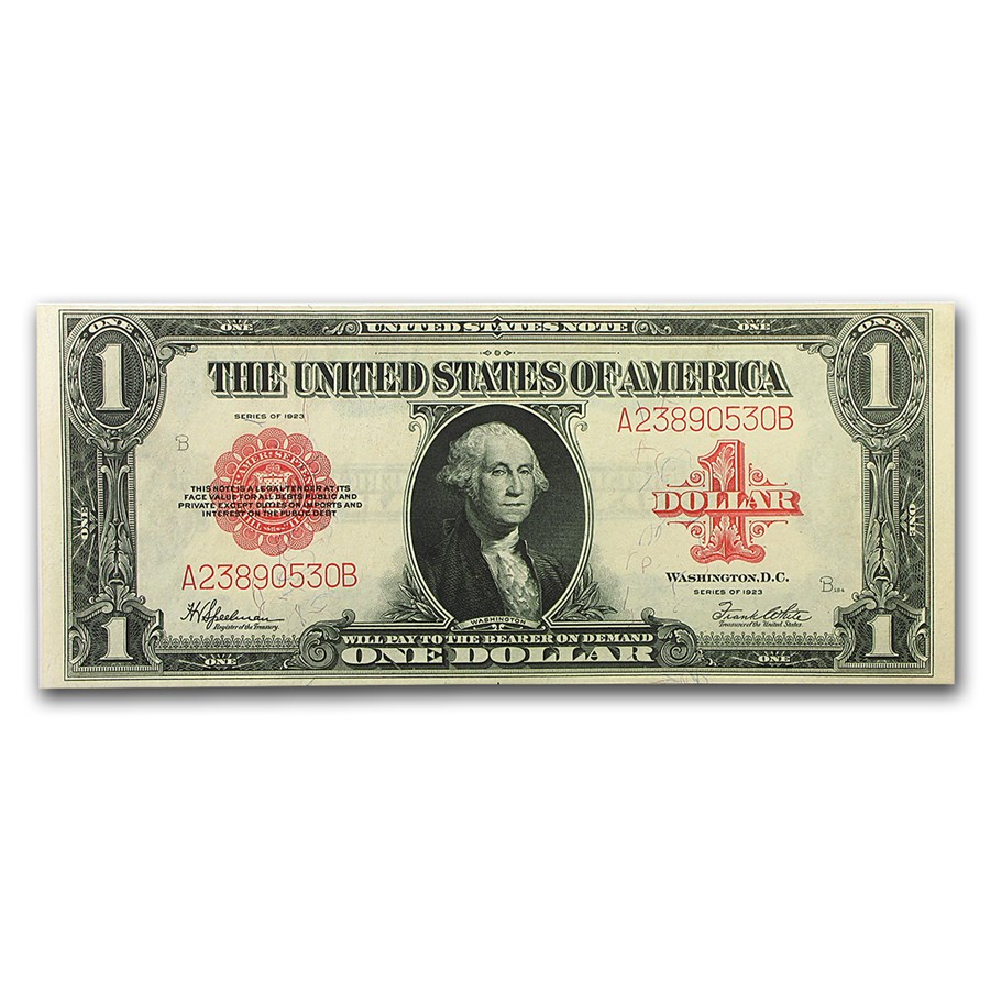 1923 $1.00 United States Note Red Seal CU