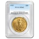 1923 $20 Saint-Gaudens Gold Double Eagle MS-62 PCGS