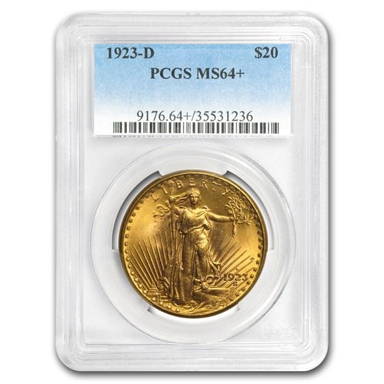 1923-D $20 Saint-Gaudens Gold Double Eagle MS-64+ PCGS