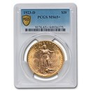 1923-D $20 Saint-Gaudens Gold Double Eagle MS-65+ PCGS
